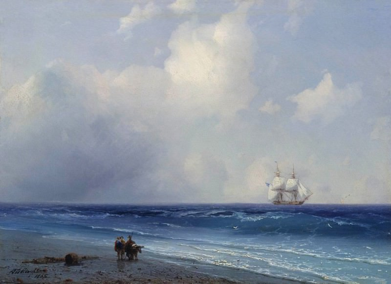 1865 26h33 The sea view. Ivan Konstantinovich Aivazovsky