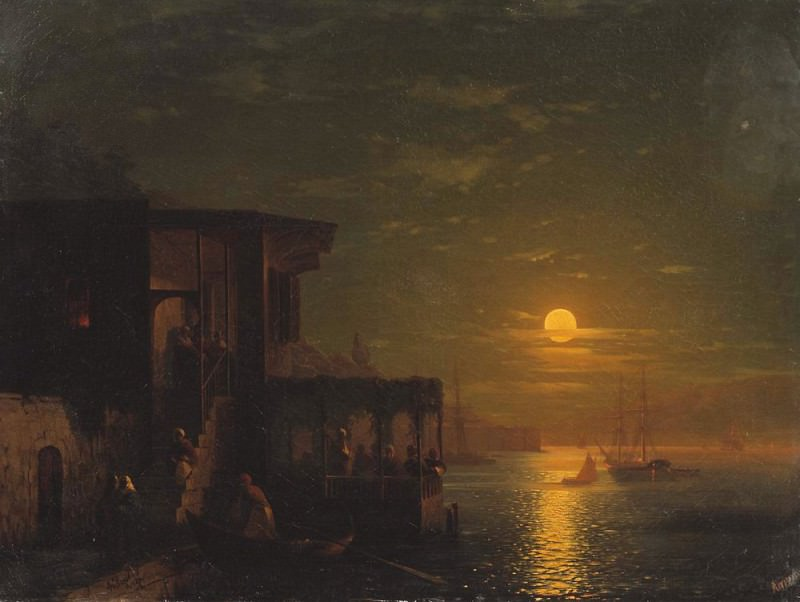 Moonlight at Sea 1875. Ivan Konstantinovich Aivazovsky