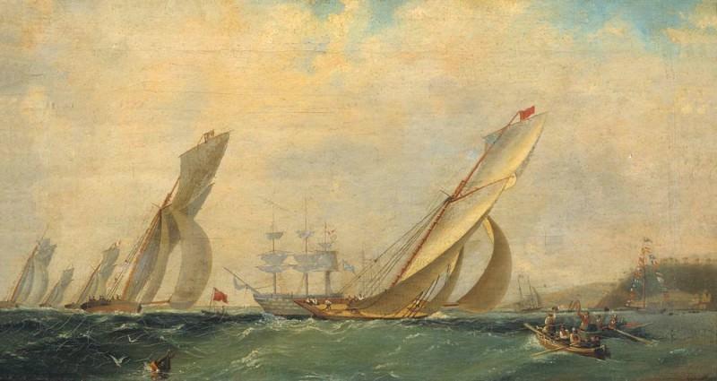 Фрегат на море 1838 42,7х77,9. Иван Константинович Айвазовский