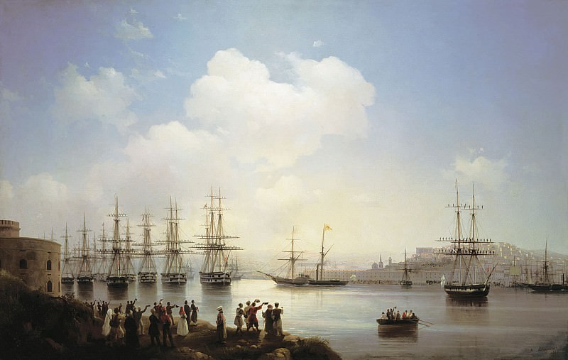 Russian squadron at the Sevastopol harbor. Ivan Konstantinovich Aivazovsky