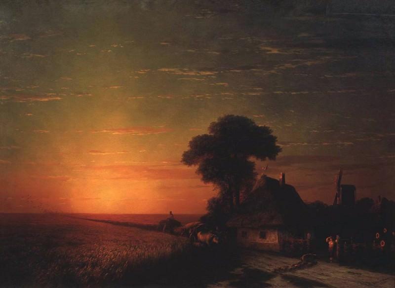 Sunset in Little 124h171 1863. Ivan Konstantinovich Aivazovsky
