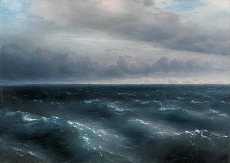 Black Sea (A storm begins to play on the Black Sea). Ivan Konstantinovich Aivazovsky