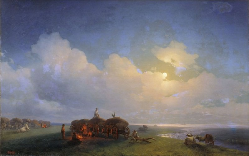 Chumaky on vacation 1885. Ivan Konstantinovich Aivazovsky