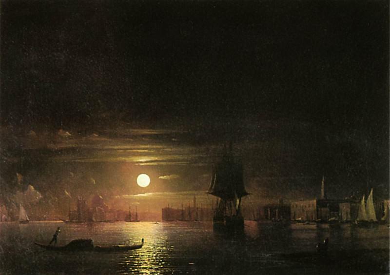 Night in Venice 1861 91h126. Ivan Konstantinovich Aivazovsky