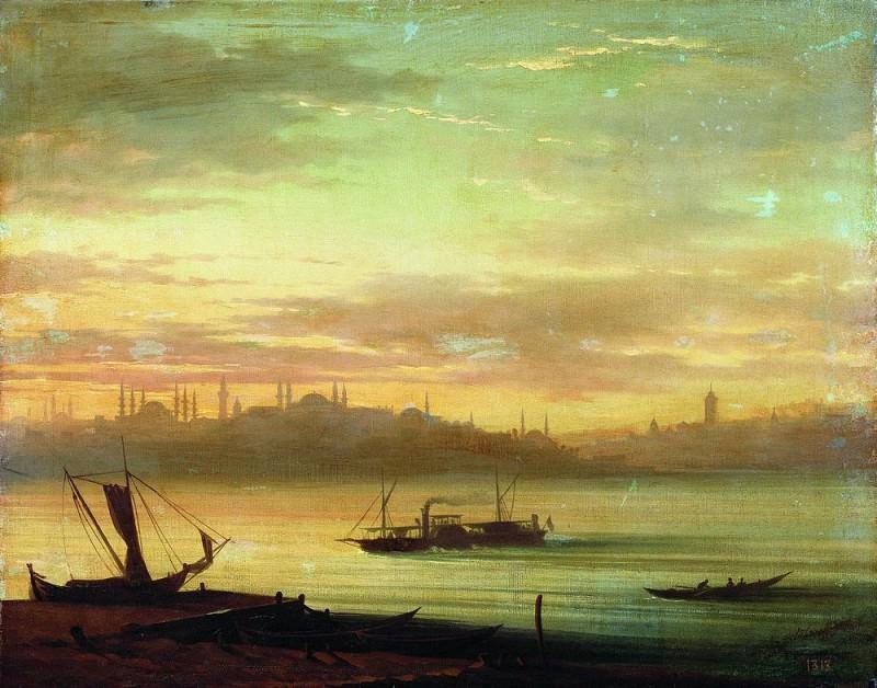 Вид Босфора 1864 49х62. Иван Константинович Айвазовский