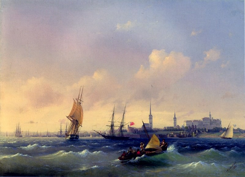 Reval view. Ivan Konstantinovich Aivazovsky