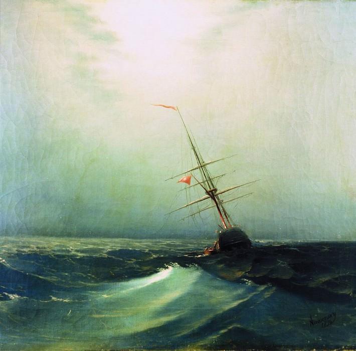 Night. Blue Wave 1876 47h64. Ivan Konstantinovich Aivazovsky