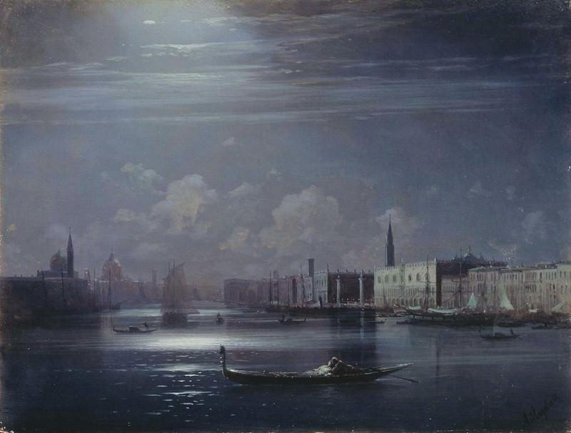Night landscape. Venice. Ivan Konstantinovich Aivazovsky