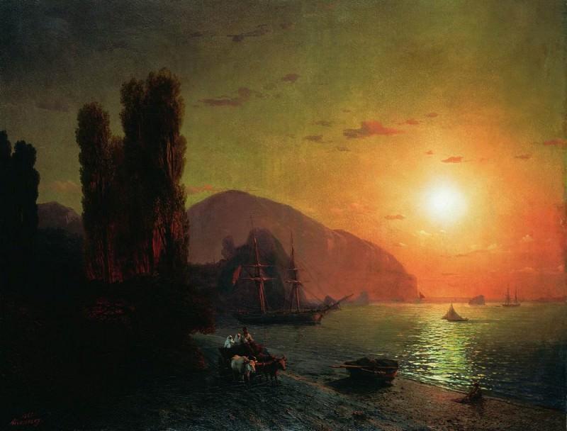 Crimean kind. Ayu-Dag 1865 59h77. Ivan Konstantinovich Aivazovsky