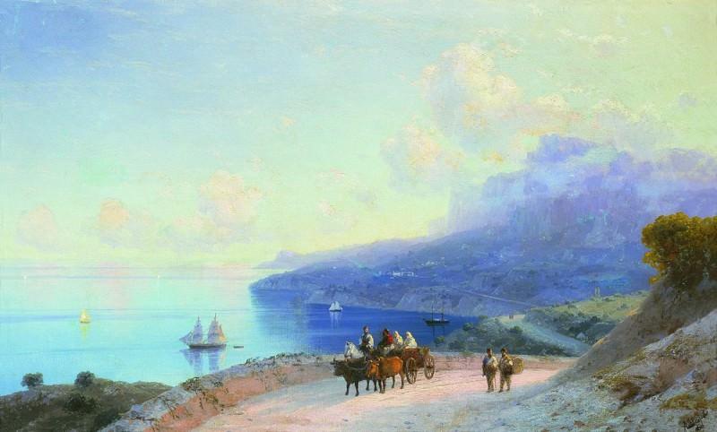 Sea coast. Crimean coast at Ai - Petri 1890 46h75. Ivan Konstantinovich Aivazovsky