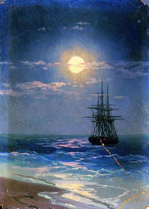 Night at Sea. Ivan Konstantinovich Aivazovsky