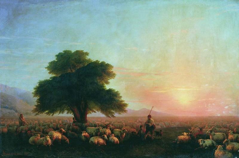 Отара овец 1857 107х161. Иван Константинович Айвазовский