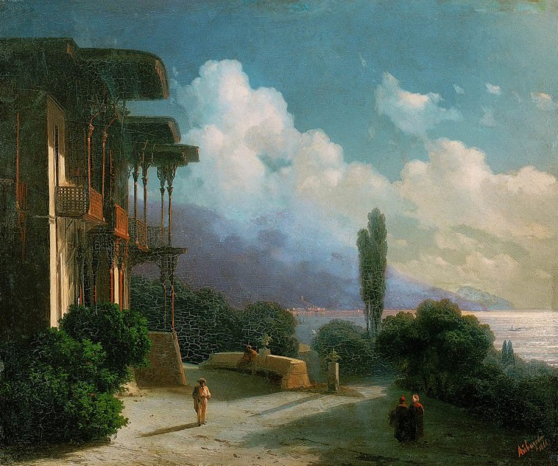 Neighborhood Yalta Night 1866. Ivan Konstantinovich Aivazovsky