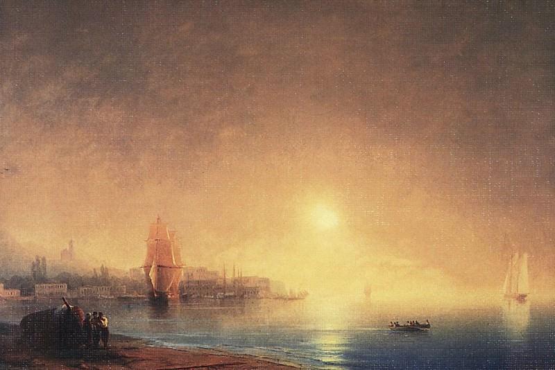 Morning on the Bay 1853 56h89. Ivan Konstantinovich Aivazovsky