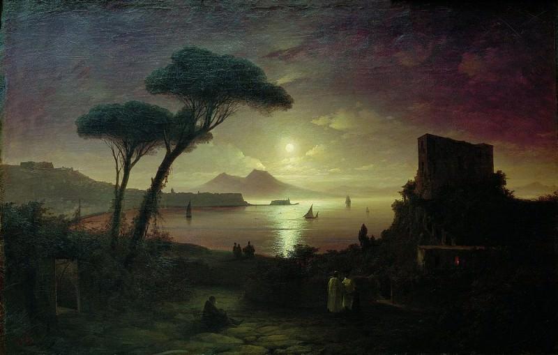 Bay of Naples by Moonlight 1842 92h141. Ivan Konstantinovich Aivazovsky