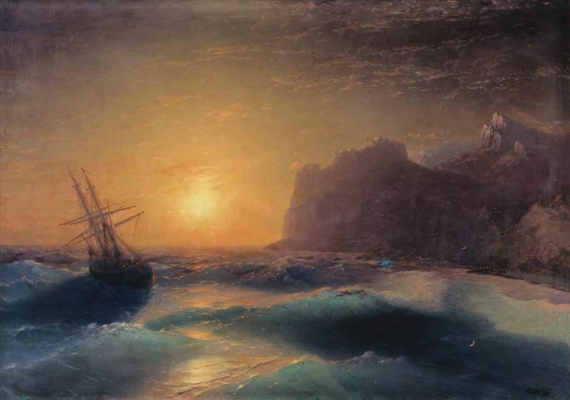 Seascape. Koktebel 1889. Ivan Konstantinovich Aivazovsky