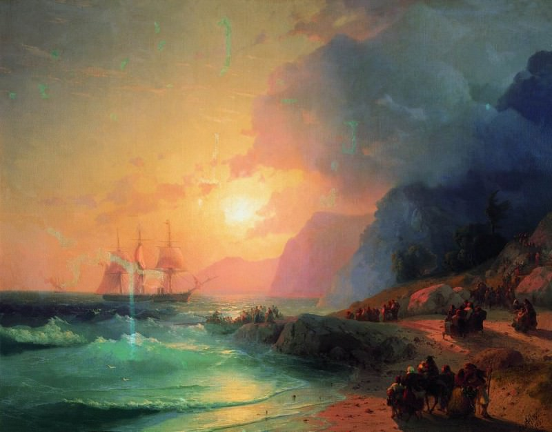 On the island of Crete in 1867 96h126. Ivan Konstantinovich Aivazovsky