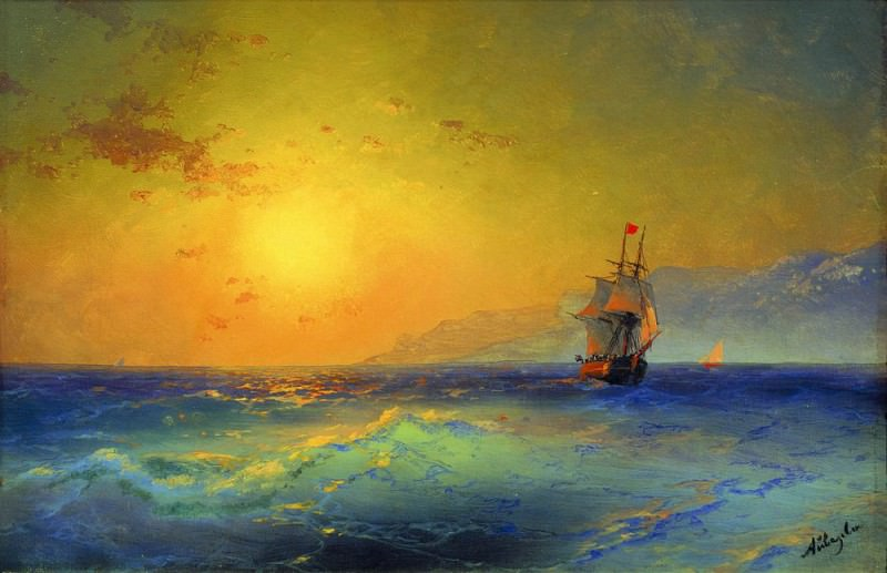 For Crimean coast 1890 36. 5h55. Ivan Konstantinovich Aivazovsky