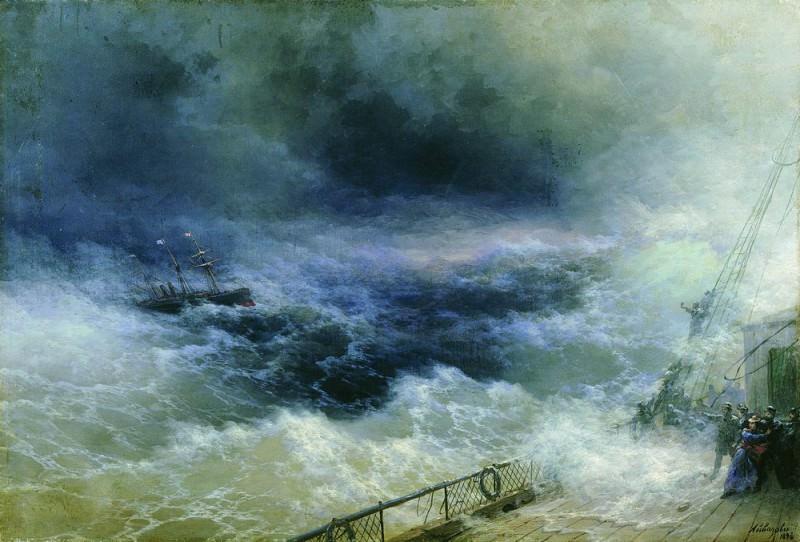 Ocean 1896 67,5 x100. Ivan Konstantinovich Aivazovsky