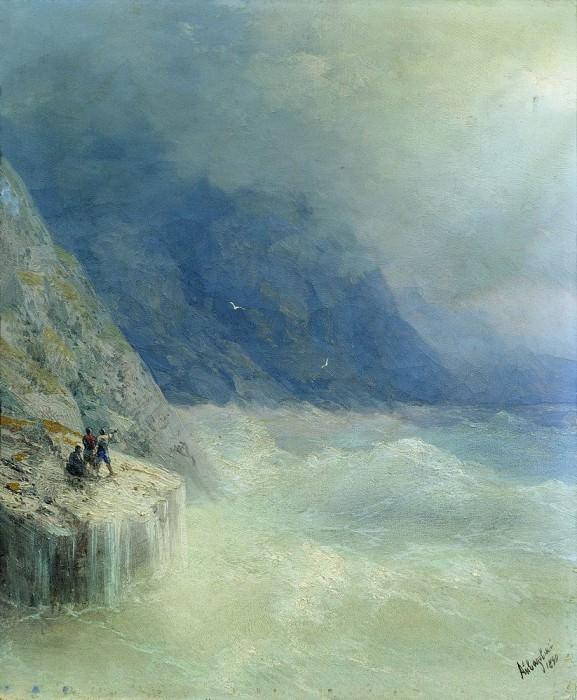Rock in the mist 1890 32. 2h26, 7. Ivan Konstantinovich Aivazovsky