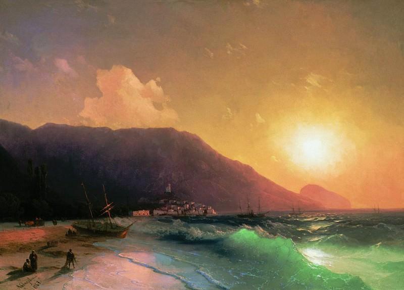 Sea view 1867 61h83. Ivan Konstantinovich Aivazovsky