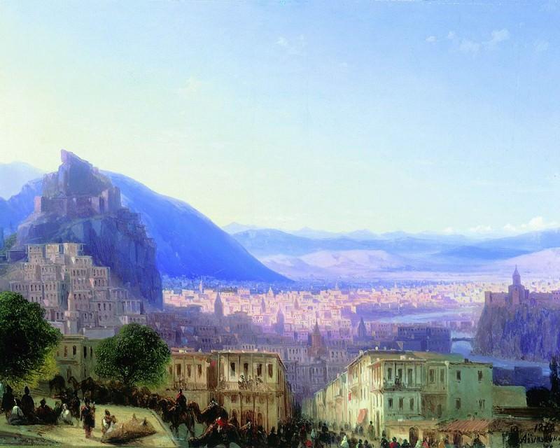 Вид Тифлиса от Сейд-Абаза 1868. Иван Константинович Айвазовский