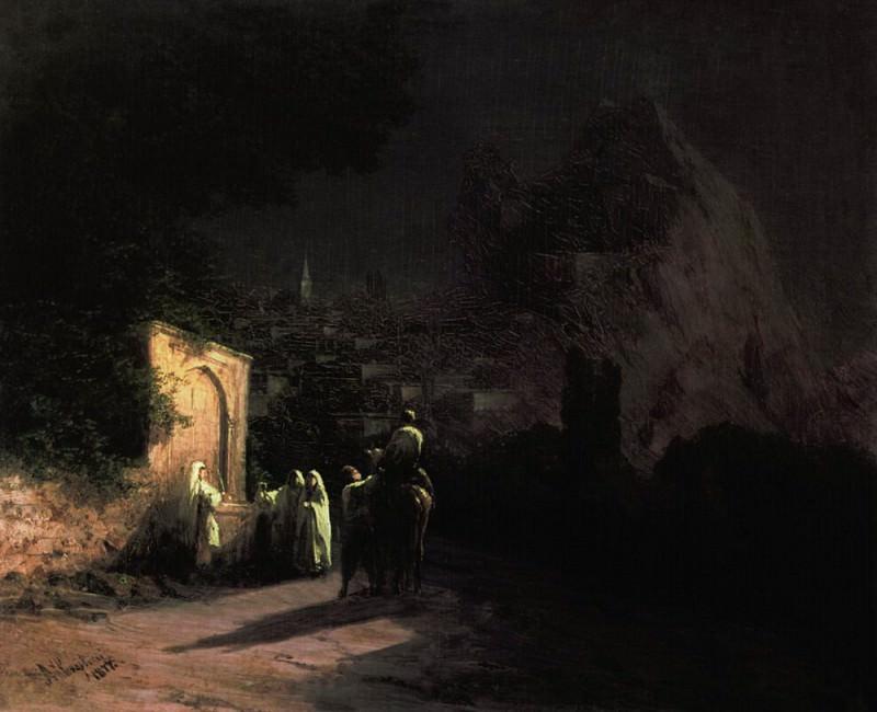 Moonlit Night. In spring 1877 22h27. Ivan Konstantinovich Aivazovsky