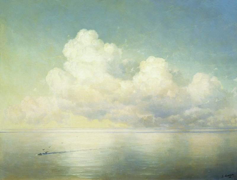 Clouds over the sea. Calm 1889 112h146. Ivan Konstantinovich Aivazovsky
