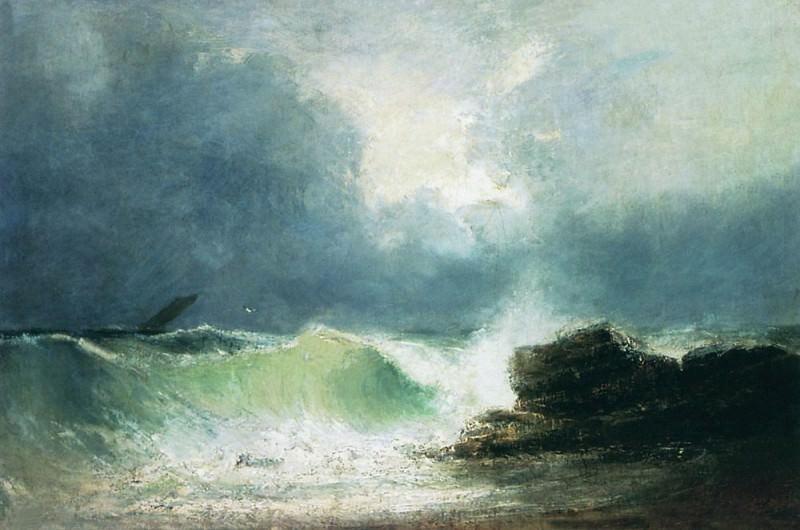 Sea coast. Wave 1880 40x60. Ivan Konstantinovich Aivazovsky