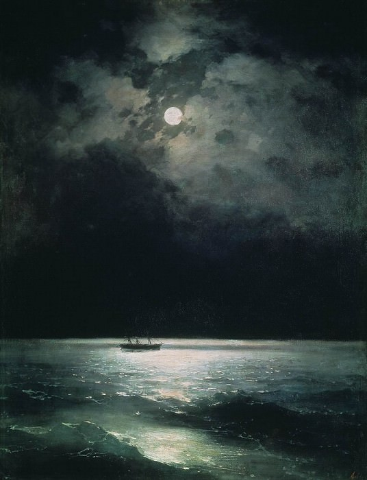 Night on the Black Sea in 1879 58,5 h69, 5. Ivan Konstantinovich Aivazovsky