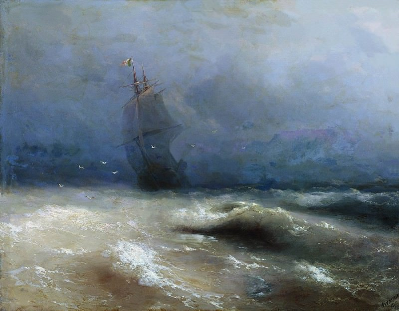 A storm off the coast of Nice 1885 118h150. Ivan Konstantinovich Aivazovsky