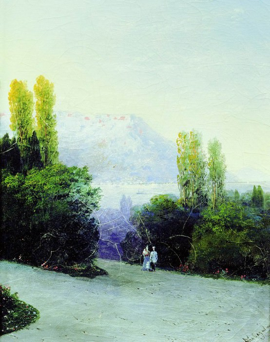 Livadia 37,4 x29, 8. Ivan Konstantinovich Aivazovsky