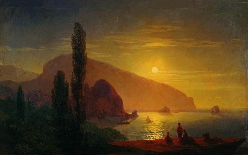 Night in the Crimea. View on Aju-Dag 1850 63h94. Ivan Konstantinovich Aivazovsky