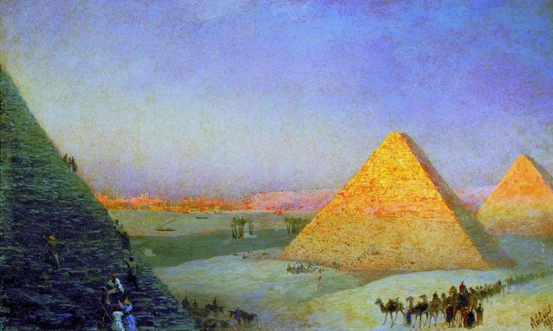 Пирамиды 1895 36х59. Иван Константинович Айвазовский