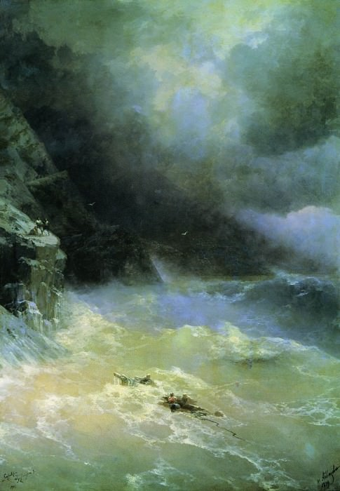 In the storm of 1899 152h107. Ivan Konstantinovich Aivazovsky