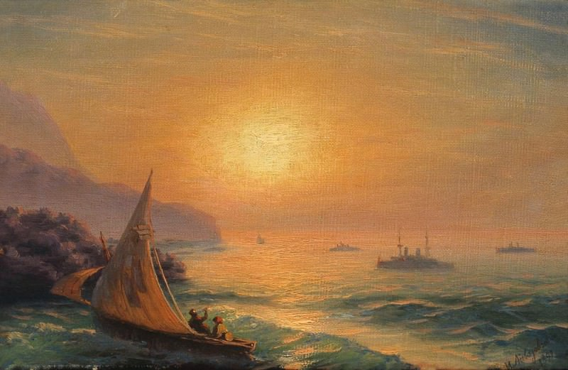 Sunset at Sea 1899 23h35. Ivan Konstantinovich Aivazovsky