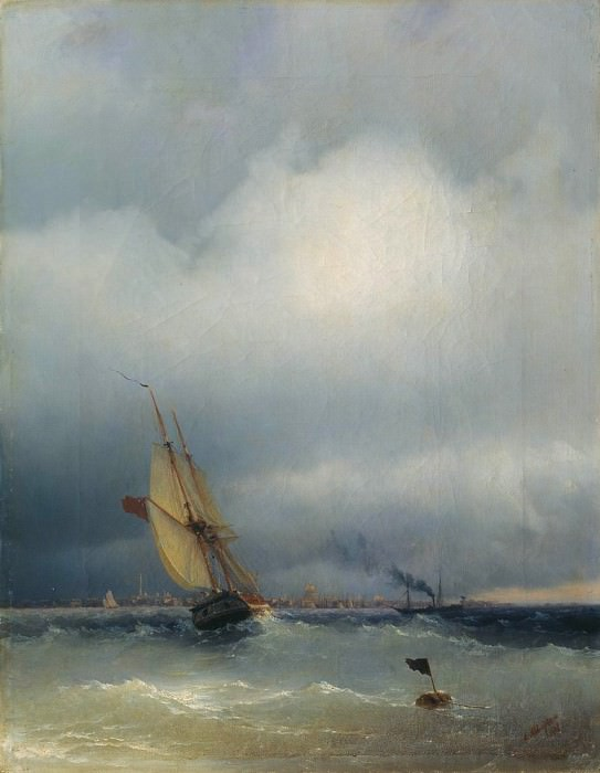 Gulf of Finland 1848. Ivan Konstantinovich Aivazovsky