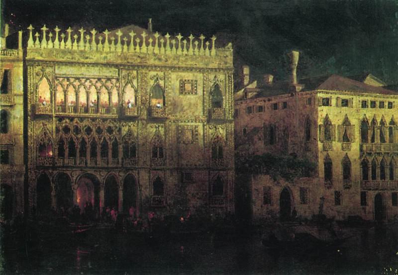 Palace Ka Dr Ordo in Venice 1878 27h37. Ivan Konstantinovich Aivazovsky
