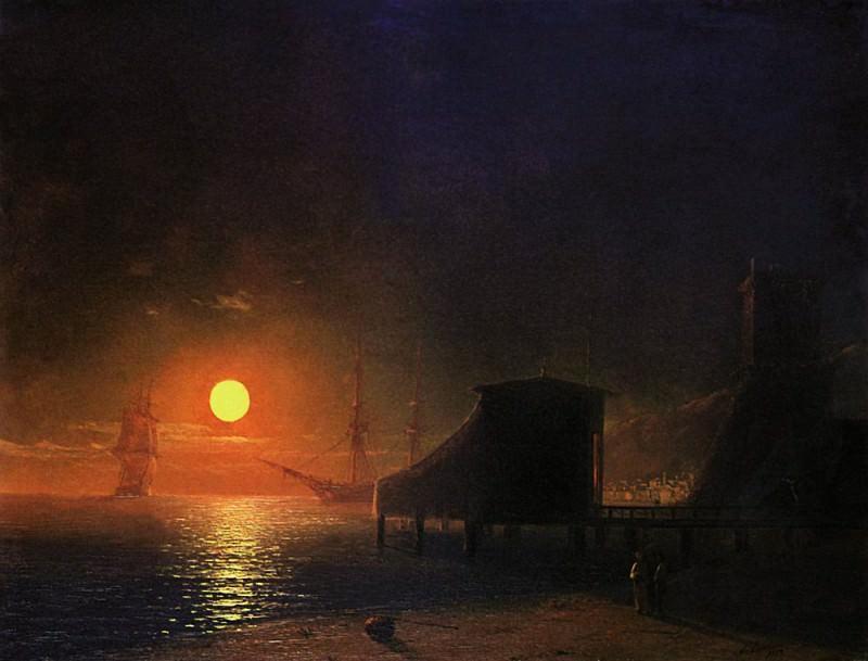Feodosiya. Moonlight 1852 29h36. Ivan Konstantinovich Aivazovsky