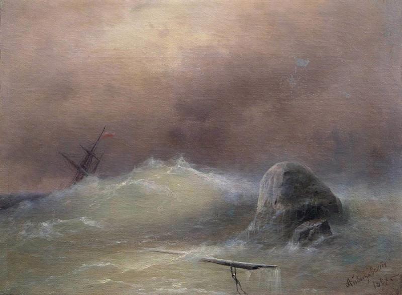 Stormy Sea 1887. Ivan Konstantinovich Aivazovsky