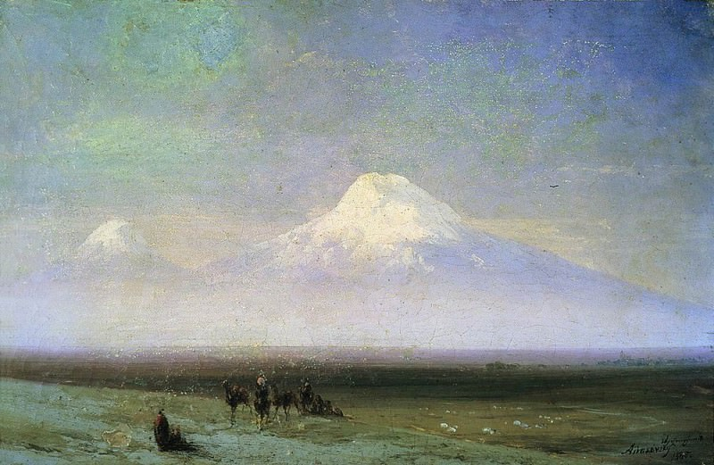Mount Ararat 1885 23h34. Ivan Konstantinovich Aivazovsky