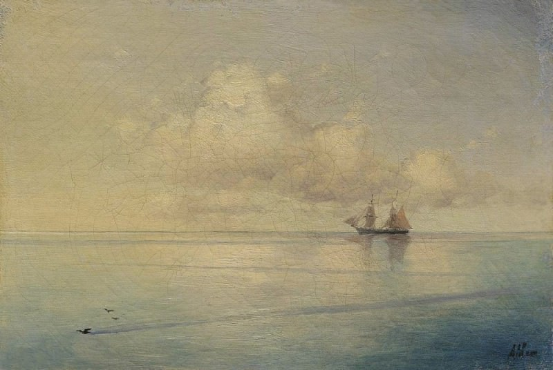 Landscape with a sailboat. Ivan Konstantinovich Aivazovsky