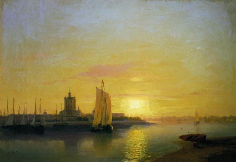 Smolny Convent 1849 40h58. Ivan Konstantinovich Aivazovsky