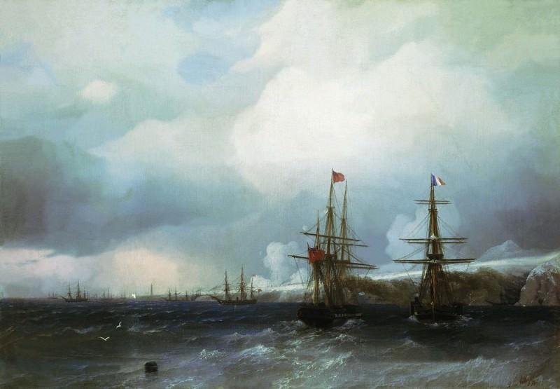 Взятие Севастополя 1855 59х84. Иван Константинович Айвазовский