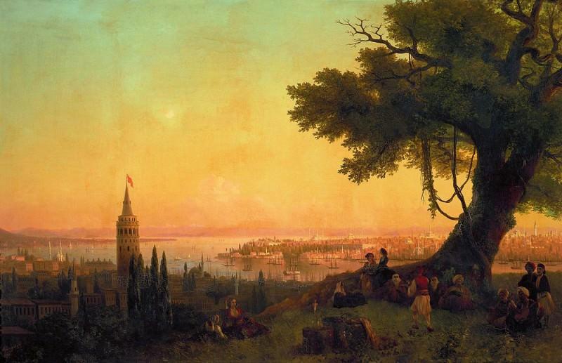 Type of Constantinople in the evening light 120h189 1846, 5. Ivan Konstantinovich Aivazovsky
