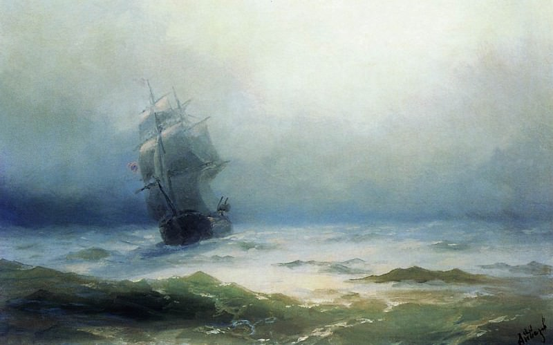 Storm 1899 41h58. Ivan Konstantinovich Aivazovsky