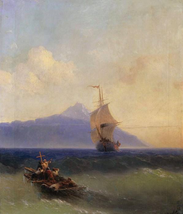 Evening at Sea. Ivan Konstantinovich Aivazovsky