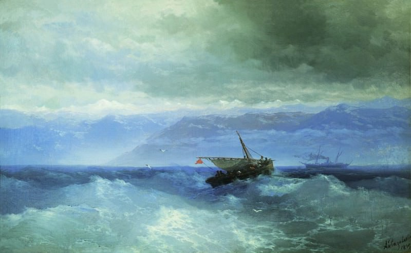 Caucasus Mountains to the Sea 1899 59h94. Ivan Konstantinovich Aivazovsky