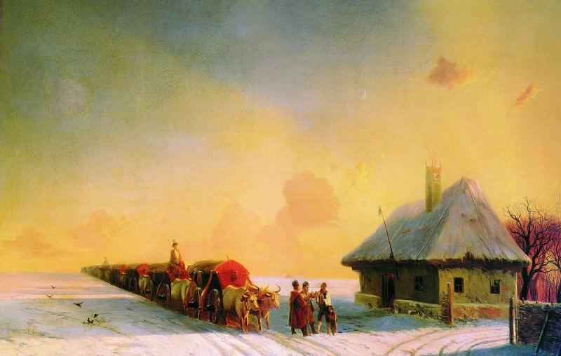Chumaky in the Ukraine 1870-1880-e 80,5 h143. 3. Ivan Konstantinovich Aivazovsky