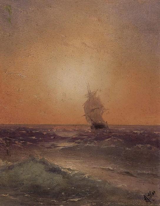 Sea view. Etude 13h10. Ivan Konstantinovich Aivazovsky